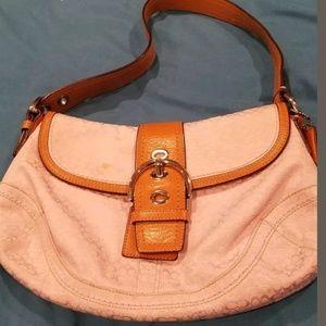 Pink coach monogram bag